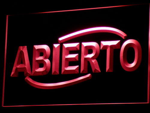 ABIERTO Food Cafe Restaurant NEW Neon Light Sign